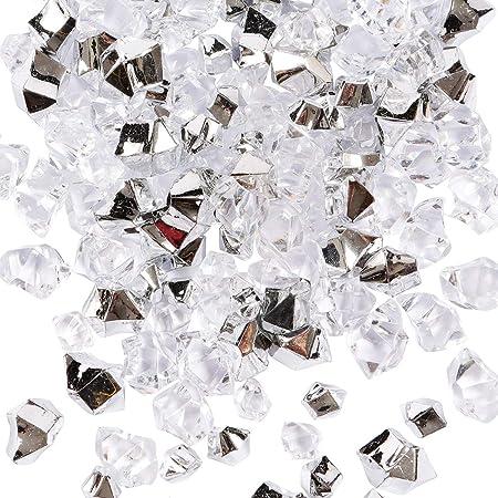 Cubetti di Ghiaccio,150 PCS Diamanti Finti Cubetti di Ghiaccio in Plastica Acrilica Gemme Cristalli Decorativi per Riempitivi di Vasi Decorazioni Tavola Matrimoni Casa 11 x 14 mm