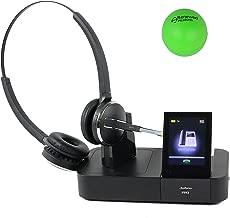 Jabra Pro 9465 Dual Speaker Wireless Office Headset System Bundle with Renewed Headsets Stress Ball (Renewed)