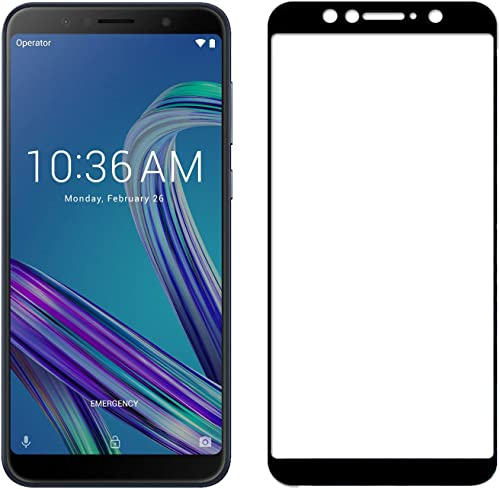 POPIO Edge To Edge Full Screen Coverage Tempered Glass Protector For ASUS Zenfone Max Pro M1 ZB601KL ZB602KL Black