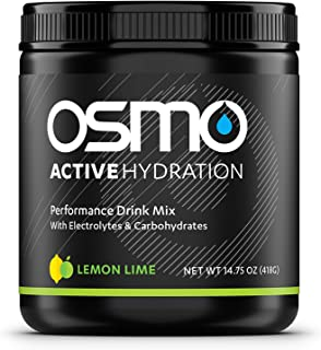 OSMO Nutrition - Active Hydration - During-Exercise Hydration Powdered Drink Mix - Fastest Way to Rehydrate - Improves Power Output & Endurance - Lemon Lime - 40 Serving Tub