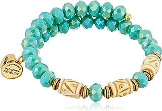 Women's Deep Sea Wrap Bracelet Marina/Gold One Size
