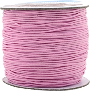 Mandala Crafts Elastic Cord Stretchy String for Bracelets, Necklaces, Jewelry Making, Beading, Masks (Baby Pink, 1mm 109 Yards)