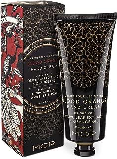 Hand Cream, MOR Sweet Almond Oil Vitamin E Macadamia oil Hand Repair Cream for Dry and Cracked Hands Fragrance Hand Lotion Daily Hand Moisturizer Blood Orange 100ml/3.1 fl oz