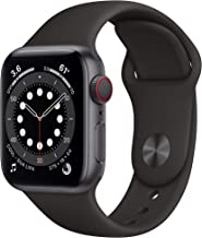 AppleWatch Series 6 (GPS + Cellular, 40mm) - Space Gray Aluminum Case with Black Sport Band...