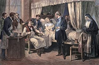 Blood Transfusion 1874 Na Blood Transfusion At HPital De La Pitie Paris France 1874 Contemporary Engraving Poster Print by...