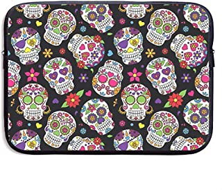Business Briefcase Sleeve Laptop Sleeve Case Cover Waterproof Computer Bag Sugar Skulls Compatible Notebook Bag Case Tablet Case Cover Laptop Sleeve Bag Inch