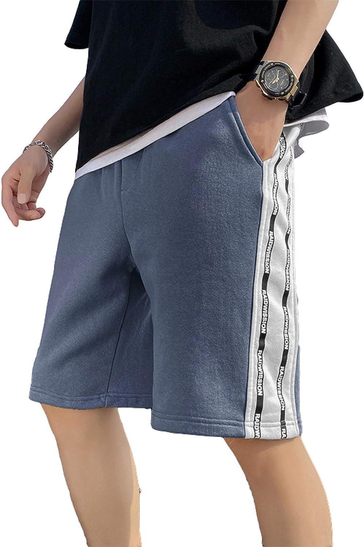 Segindy Men's Summer Thin Shorts Fashion Trend Loose Casual Comfortable Drawstring