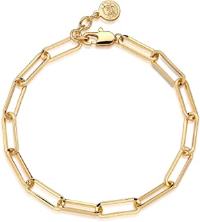 Mevecco Gold Beaded Bracelets,14K Gold Plated Handmade Cute Satellite Diamond Cut Oval and Round Beads Rope Chain Dainty B...