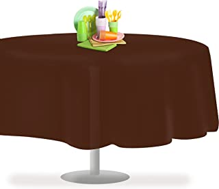 Brown 12 Pack Premium Disposable Plastic Tablecloth 84