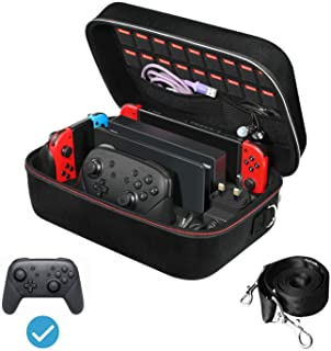iVoler Carrying Storage Case for Nintendo Switch, Portable Travel All Protective Hard Messenger...