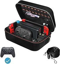 ivoler Case för Nintendo Switch, Deluxe hård bärväska skydd Portable Switch fodral skyddsväska för Nintendo Switch-konsol ...