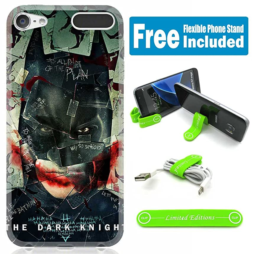 [Ashley Cases] TPU Skin Cover Case for iPod Touch 5th/6th Generation with Flexible Phone Stand - Joker Batman Cards