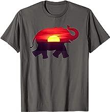 Sahara Sunset Elephant Wild Life African Roots T-Shirt