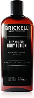 Brickell Men's Deep Moisture Body Lotion for Men, Natural and Organic Protects and Hydrates Dry Skin, 8 Ounce, Scented