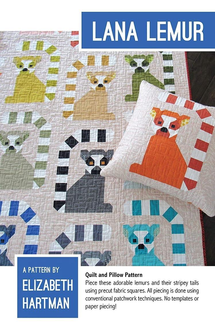 Lana Lemur Quilt and Pillow Pattern by Elizabeth Hartman EH050