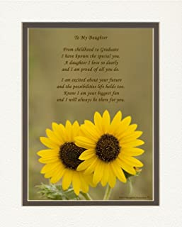 Daughter Graduation Gift, Sunflowers Photo with