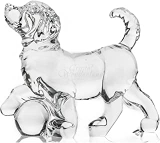 Crystal Dog Clear Collectible Figurine Paperweight