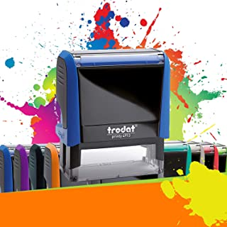 TRODAT PRINTY 4913 | Tampon encreur professionnel personnalisé 5 lignes | 10 couleurs disponibles | EMPREINTE 58 x 22 mm O...