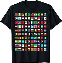 International World Flags T-shirt Flags World Map