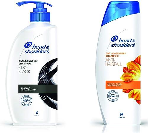 Head & Shoulders Silky Black Shampoo, 675ml & Anti Hair Fall Shampoo, 360ml Combo product image