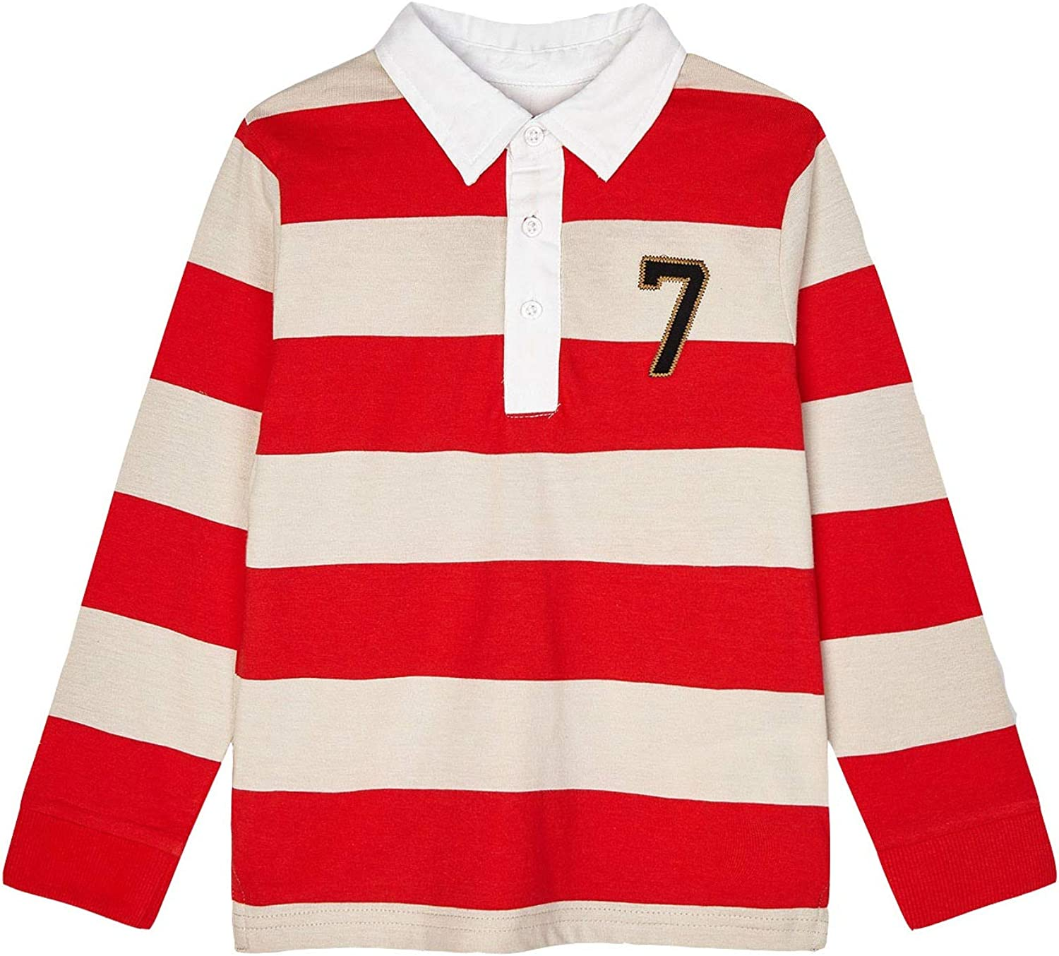 Mayoral - L/s Stripes Polo for Boys - 3114, Cyber red