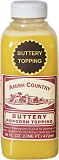Amish Country Popcorn - Buttery Popcorn Topping (16 Oz) - Old Fashioned, Non GMO, Gluten Free - With Recipe Guide