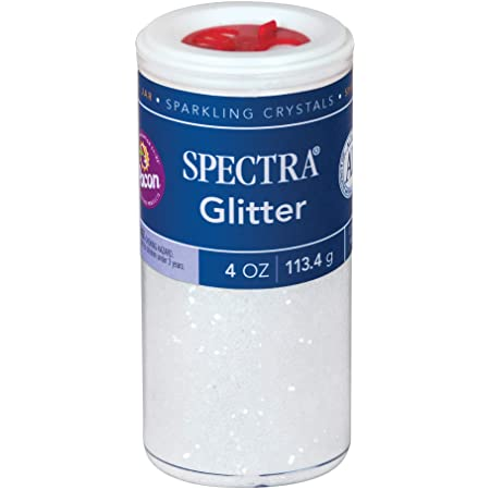 Pacon Spectra Glitter Sparkling Crystals, Clear, 4-Ounce Jar (91830)
