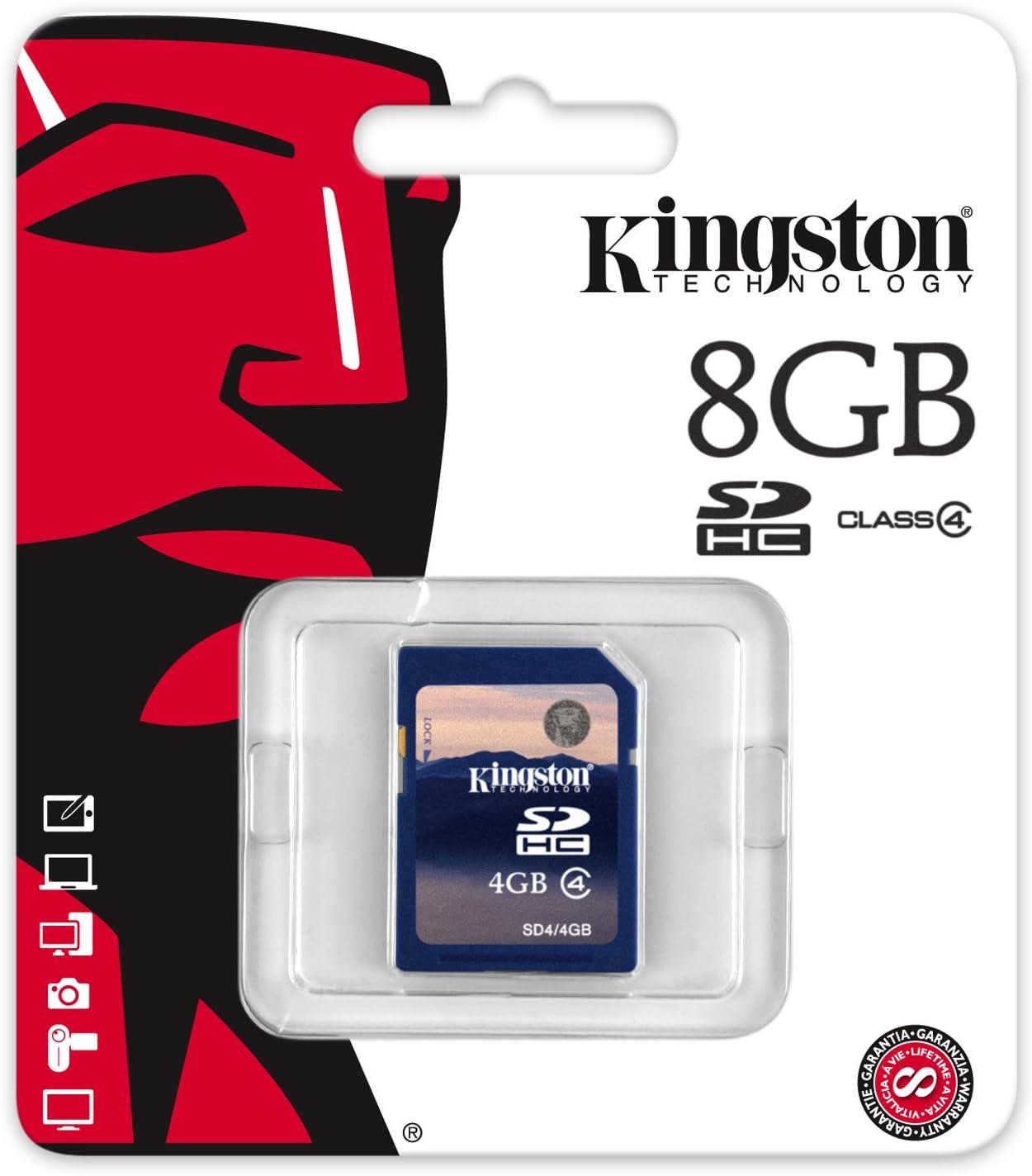 Kingston 8GB SDHC Memory Card Class 4