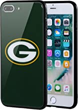 Sportula NFL Phone Case - 9H Tempered Glass Back Cover and Silicone Rubber Bumper Frame Compatible Apple iPhone 8 Plus / 7 Plus (Green Bay Packers)