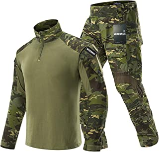 WISEONUS Airsoft clothing Tactical Suit Military Mens Combat Trousers and Shirt Hunting Paintball Shooting Camouflage Suit...