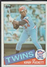1985 Topps Kirby Puckett Twins Rookie Baseball Cad #536