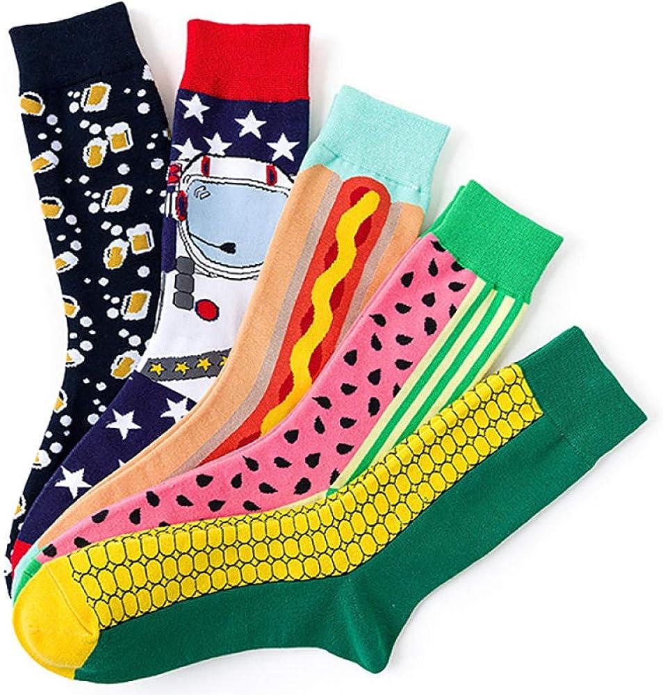 Cartoon Food Men And Women Medium Tube Stockings Jacquard Cotton Socks Medium Tube Socks Casual Cotton Socks