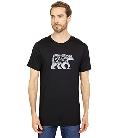 Smartwool Merino Sport 150 Bear Camp Tee (Black) Men