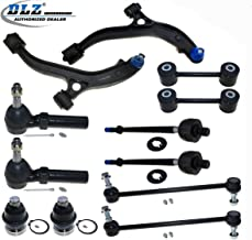 DLZ 12 Pcs Suspension Kit-2 Front Lower Control Arm 2 Ball Joint 2 Outer 2 Inner Tie Rod End 2 Front 2 Rear Sway Bar Link Compatible with Dodge Caravan 1996-2000