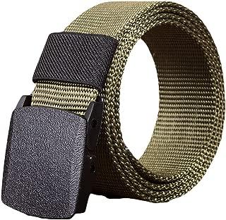 Casual Nylon Webbing Belt Men Tactical Braided Strap Non-Metal Buckle