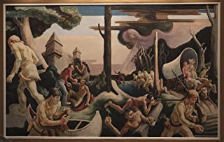 24 x 36 Giclee Print of One of 16 Tempura-on Canvas murals from Thomas Hart Benton's Mural A Social History of The State of Indiana That Benton Painted for The 1933 Chicago World's Fair r74 4263