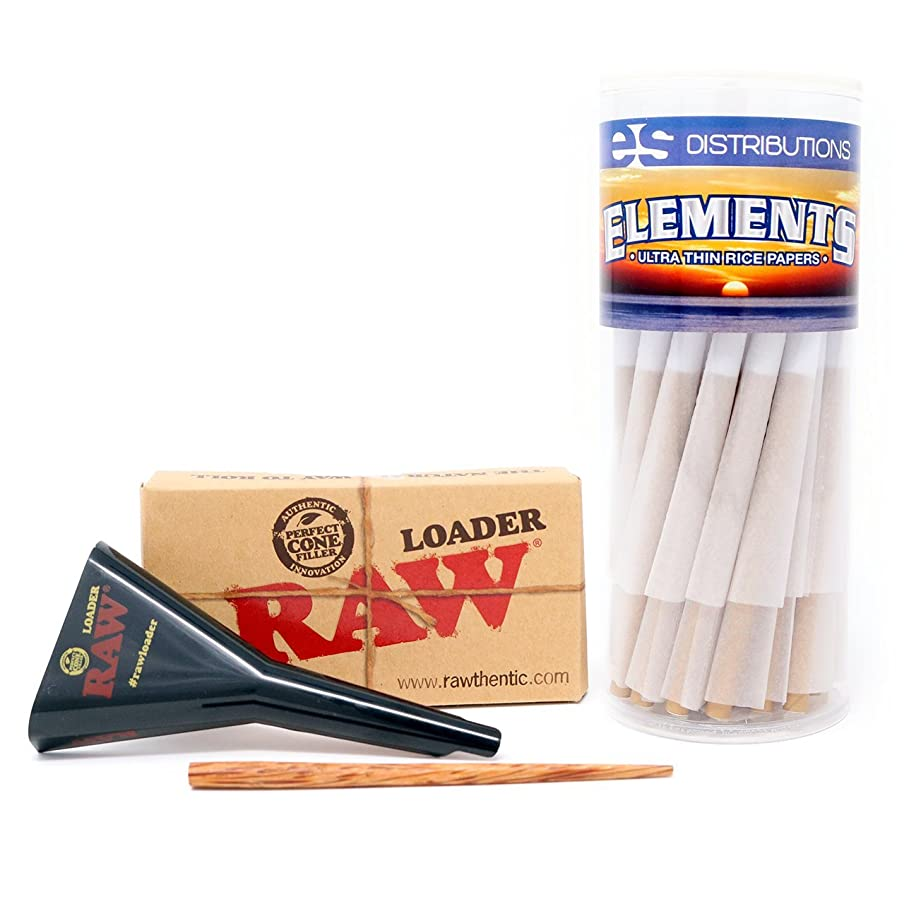 Elements Pre-Rolled Cones King Size Variation (50 Pack with Loader) b4820129571