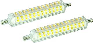 DYA R7s - Juego de 2 bombillas LED lineales súper finas (4000 K, luz natural, 15 W, 1500 lúmenes)