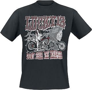 Lucky 13 Black Misty T-Shirt (Large, Black)