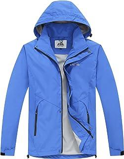 svacuam Men's Classic Outdoor Lightweight Waterproof Raincoat with Hood