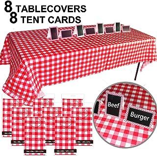 JALOUSIE Value Bundle Table Covers Party Decoration 8 Pack 54