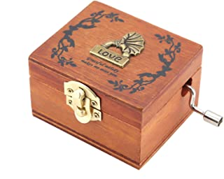 Christmas Music Box Music Boxes, Musical Box, Vintage Music Box for Christmas Gift Valentine's Day Birthday