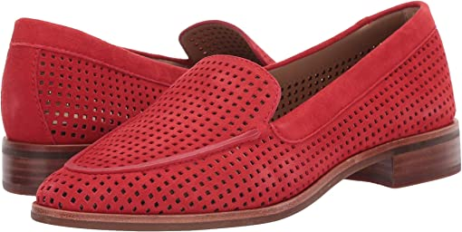 Ultra Red Perforated Suede
