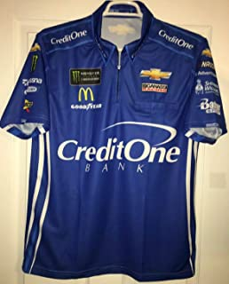 Large 20149 SPARCO Kyle Larson CREDIT ONE Pit Crew Shirt Nascar Ganassi MONSTER ENERGY Racing 1/4 ZIP Chevy Chevrolet
