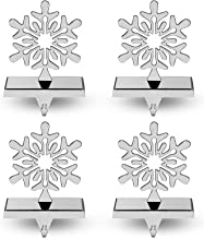 Season 4 Sparkles 4 Pieces Snowflake Stocking Holder Perfect for Hanging Stockings - Sturdy Christmas Stocking Holders for...