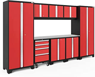 NewAge Products Bold 3.0 Red 9 Piece Set, Garage Cabinets, 50609