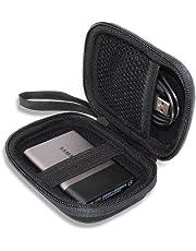 Samsung 外付けSSD 1TB 250GB 500GB 2TB T3/T5 シリーズ USB3.1 専用キャリングケース 対応旅行収納 - VIVENS (ブラック)