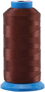Selric [1500 Yards/Coated/No Unravel Guarantee/21 Colors Available] Heavy Duty Bonded Nylon Threads #69 T70 Size 210D/3 for Upholstery, Leather, Vinyl, and Other Heavy Fabric (Coffee)
