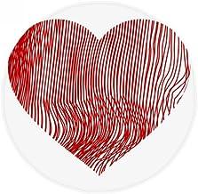 DIYthinker Finger Print Valentine's Day Heart Anti-Slip Floor Pet Mat Round Bathroom Living Room Kitchen Door 80Cm Gift