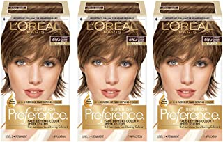 L'OrÃal Paris Superior Preference Fade-Defying + Shine Permanent Hair Color, 6.5G Lightest Golden Brown, 3 Count Hair Dye